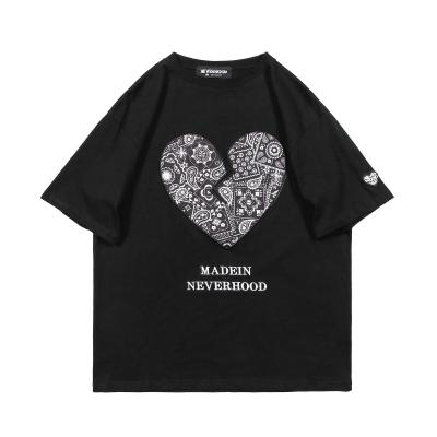 《3色》ペイズリーハートTシャツ