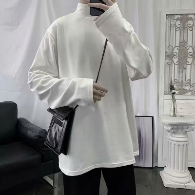 《2色》ベーシックモックネックロングTシャツ(小さいサイズ)