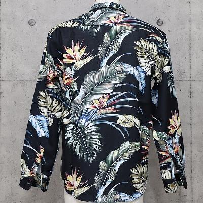 リーフ柄パナマシャツ