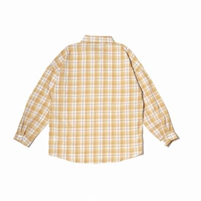 《4色》チェック柄長袖シャツ