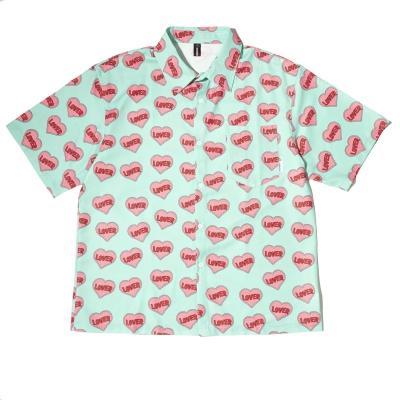 ハート柄半袖シャツ