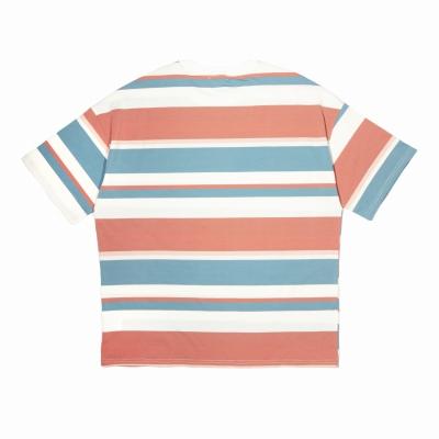 《3色》オーバーサイズランダムボーダーTシャツ