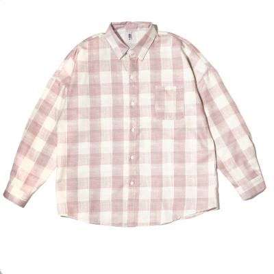 《2色》オーバーサイズギンガムチェック長袖シャツ