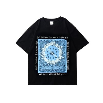 《3色》フラクトゥールバンダナ柄Tシャツ