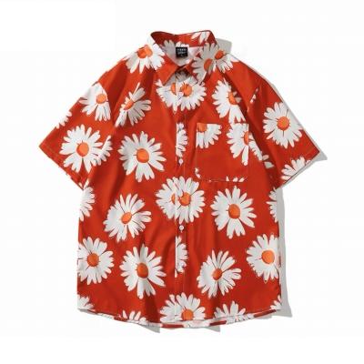 デイジー柄半袖シャツ