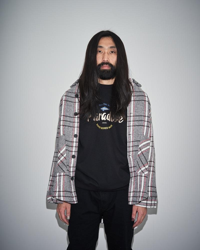《2色》オーバーサイズチェックシャツジャケット
