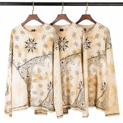 オーバーサイズクラシックペイズリーロングTシャツ