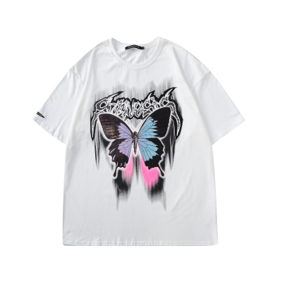 《2色》バタフライメタルロゴTシャツ