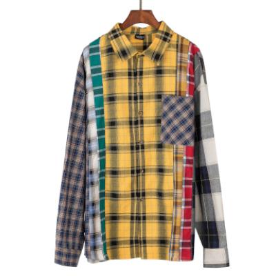 《2色》マルチカラーチェックシャツ