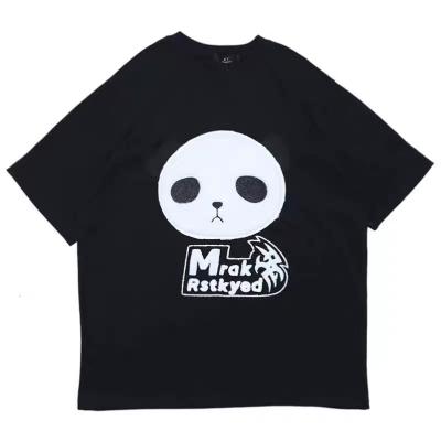 《3色》オーバーサイズパンダフェイスTシャツ