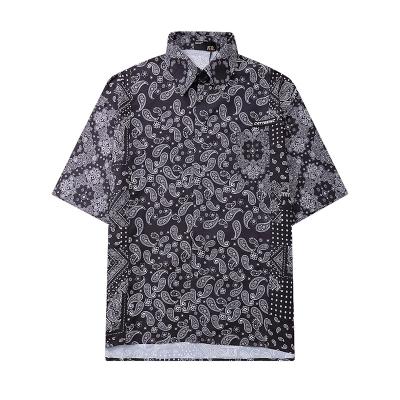 《2色》スリーパターンペイズリー半袖シャツ