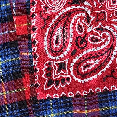 《2色》パッチタイダイバンダナチェックシャツ