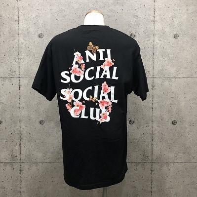 【リユース品】ANTI SOCIAL SOCIAL CLUB 桜バックプリントTシャツ ASSC