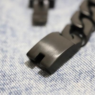 【KREAM】ブラックステンブレスレット24cm