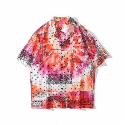 タイダイ柄ペイズリー半袖シャツ