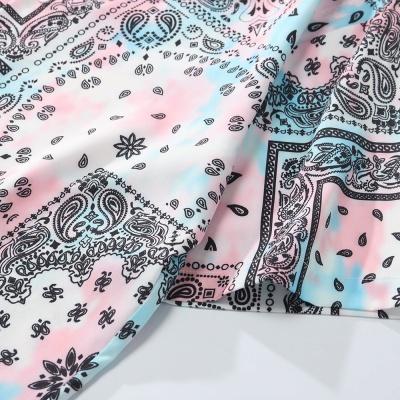 ペールカラーペイズリー半袖シャツ