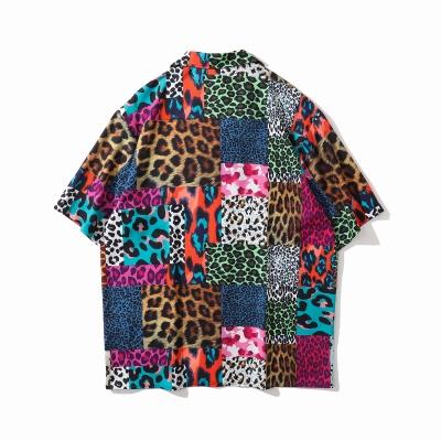スーパーOBACHAN'Sマルチカラーレオパード半袖シャツ