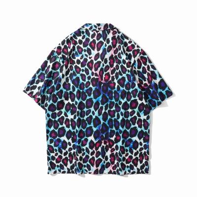 グラデーションレオパード半袖シャツ