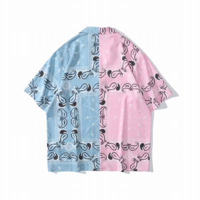 ハーフ&ハーフペイズリー半袖シャツ