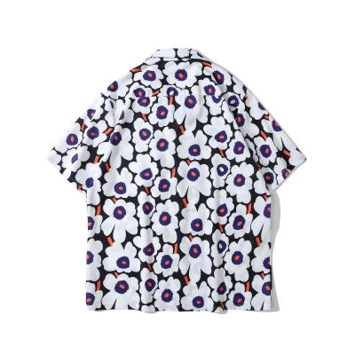 サマーフラワー半袖シャツ