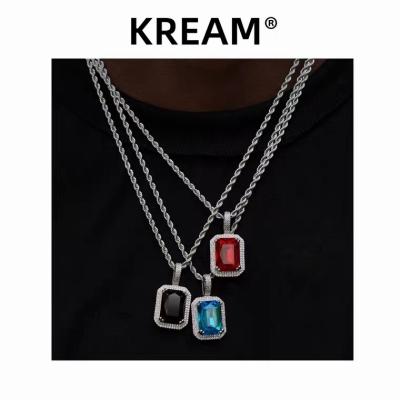 【KREAM】《3色》アイスアウトカラーストーンネックレス