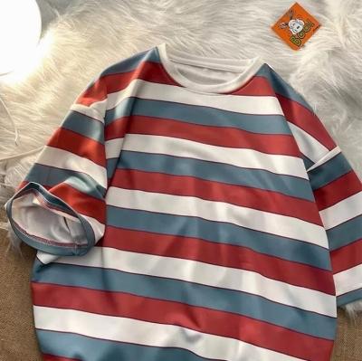 《2色》ビッグシルエットトリコカラーボーダーTシャツ