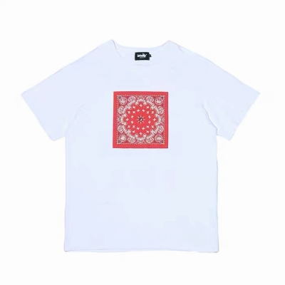 《2色》バンダナ柄ペイズリー HIPHOP Tシャツ