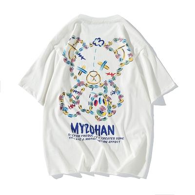 《2色》グラフィカルこてんぱんクマTシャツ