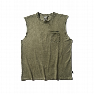 ポケットノースリーブTシャツ