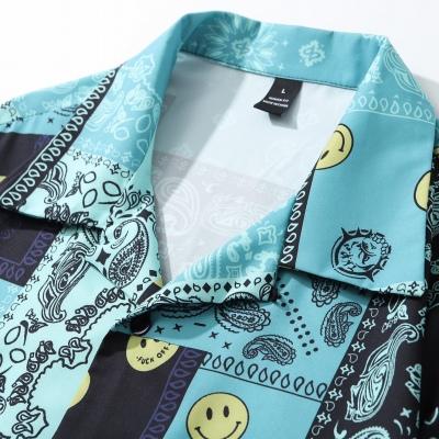 スマイル&ペイズリー半袖シャツ