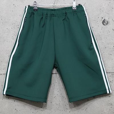 スリーストライプショートパンツ【ブラック/グリーン】