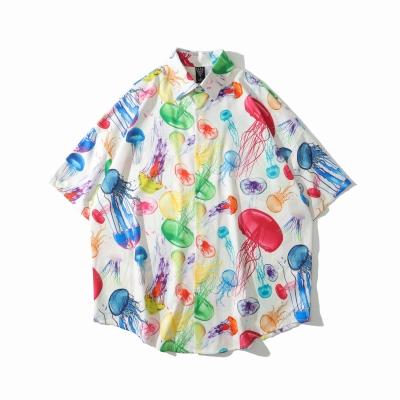 《2色》ネオンカラークラゲ半袖シャツ