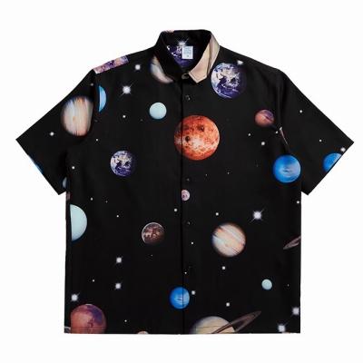 プラネット柄半袖シャツ