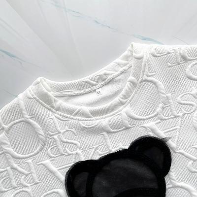 オーバーサイズブラッククマTシャツ