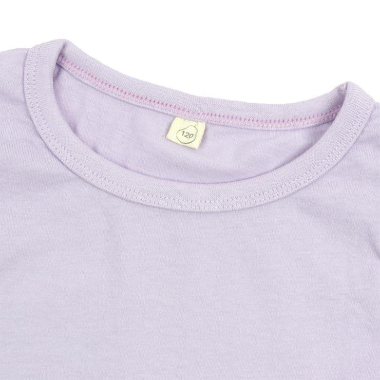 【 セール SALE 】KID'S UP TEMPO キッズアップテンポ 半袖Tシャツ ミント ラベンダー 無地 カラー 袖フリル【 QTS2654 】【 120cm 130cm 140cm 】