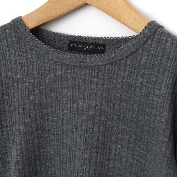 長袖Tシャツ 裾レース 33107022b 80cm 90cm zuppa di zucca ズッパディズッカ 2021年新作