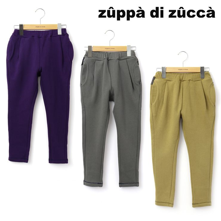 【 2020年新作 】 長パンツ 異素材ポケット 【 32343083j 】 【 140cm 150cm 】 ズッパディズッカ zuppa di zucca
