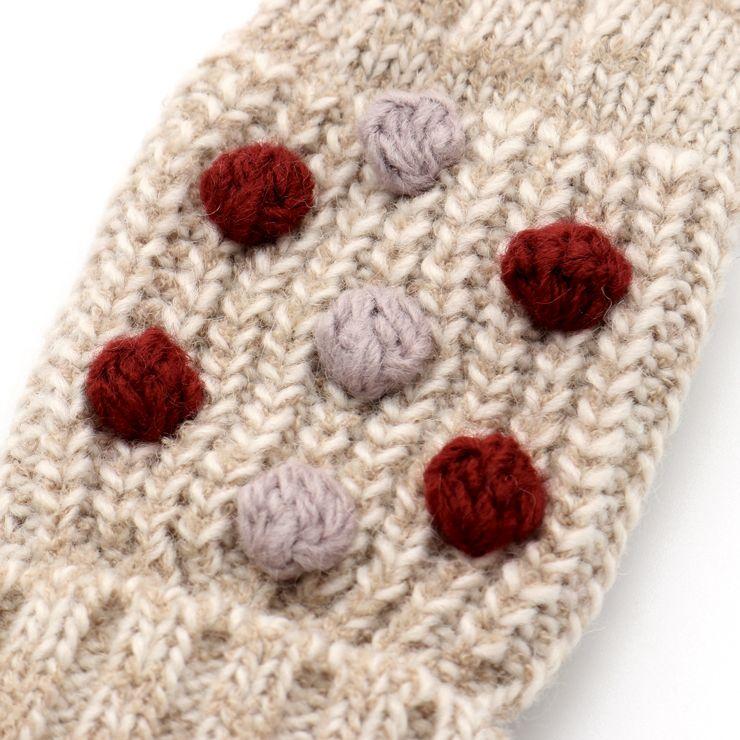 セール SALE ニット手袋 ミトン 5本指 ポンポン付き 32503604 S(ミトン 1~3歳) M(5本指 4~6歳) ズッパディズッカ zuppa di zucca 2020年商品