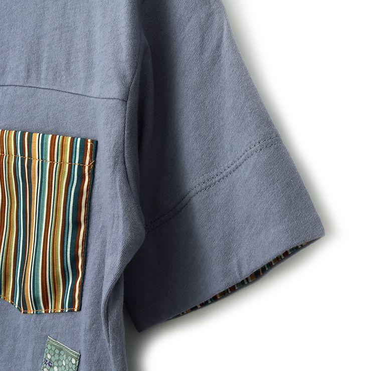 半袖Tシャツ オリエンタルプリント 33340219j 140cm 150cm 160cm  ズッパディズッカ zuppa di zucca 2021年新作