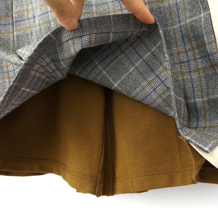 セール SALE スカート風キュロット ストレッチミニ裏毛 チェック 32343067j 140cm 150cm 160cm ズッパディズッカ zuppa di zucca 2020年商品