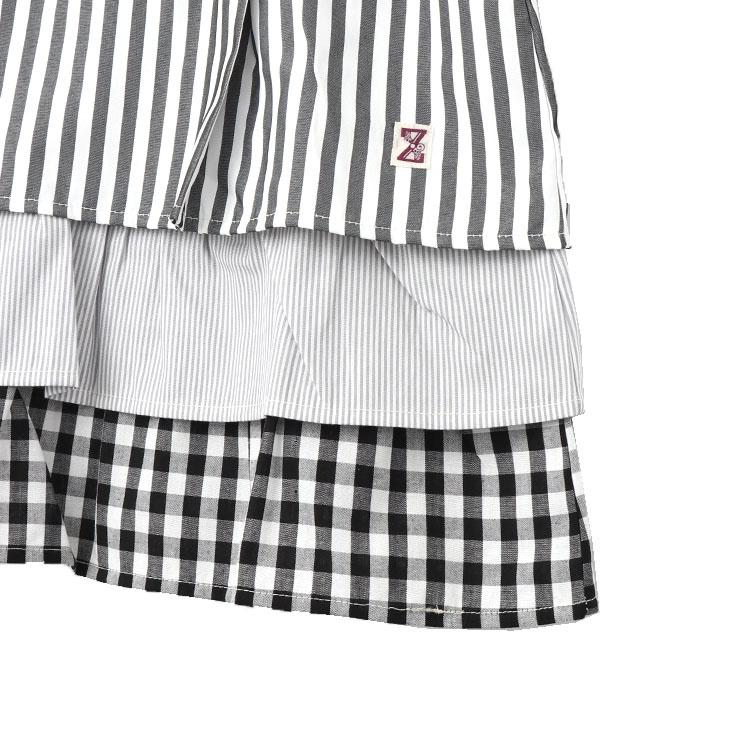 セール SALE 半袖プルオーバー Tシャツ オフホワイト ブラック 3段フリル 32340214k 100cm 110cm 120cm 130cm ズッパディズッカ zuppa di zucca