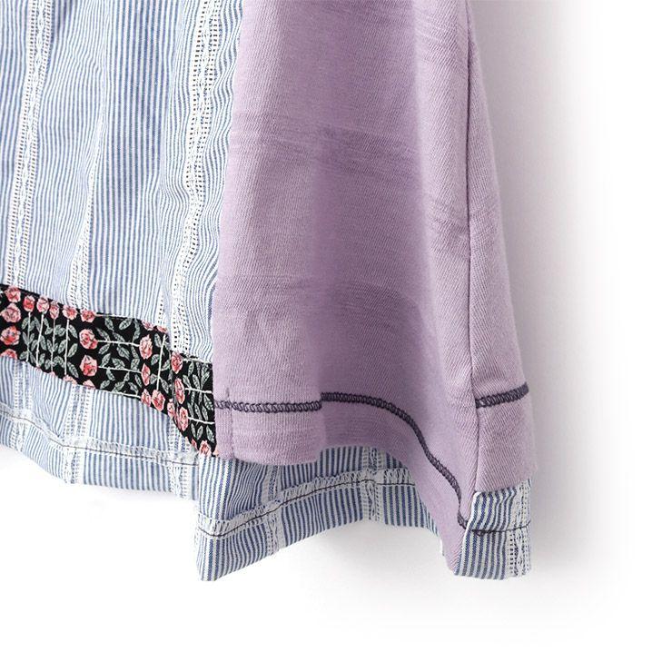 半袖Tシャツ ボーダー 花柄 33340222j 140cm 150cm 160cm  ズッパディズッカ zuppa di zucca 2021年新作