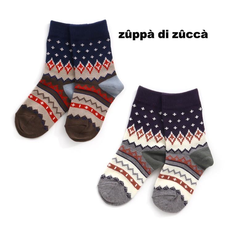 セール SALE クルーソックス 幾何学柄 32503651 SS(11-13cm) S(13-15cm) M(16-18cm) L(19-21cm) LL(22-24cm) ズッパディズッカ zuppa di zucca 2020年商品