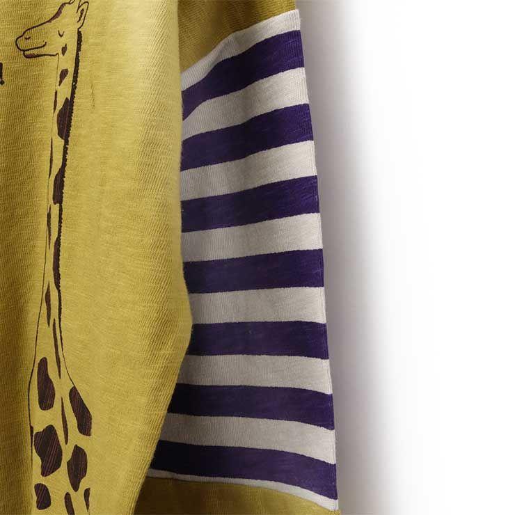 長袖Tシャツ キリン プリント 33107016k 100cm 110cm 120cm 130cm zuppa di zucca ズッパディズッカ 2021年新作