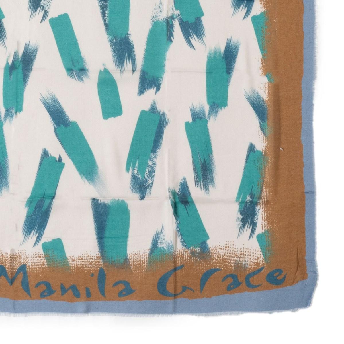 [2021秋冬]  Manila Grace[マニラグレース]  W1IF033GS- ストール -MA151 ブルー