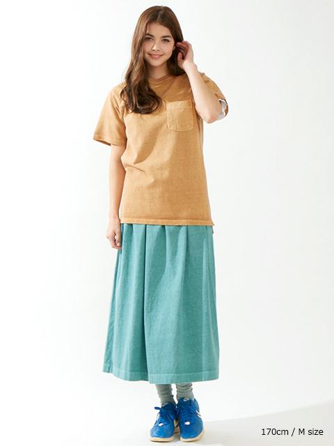 グッドオン GOODON ショートスリーブヘビーラグランポケットTシャツ P-ダークオレンジ