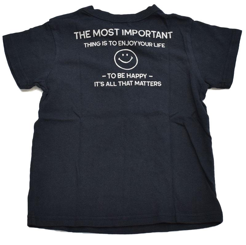 ニードルワークス スマイル Tシャツ ブラック