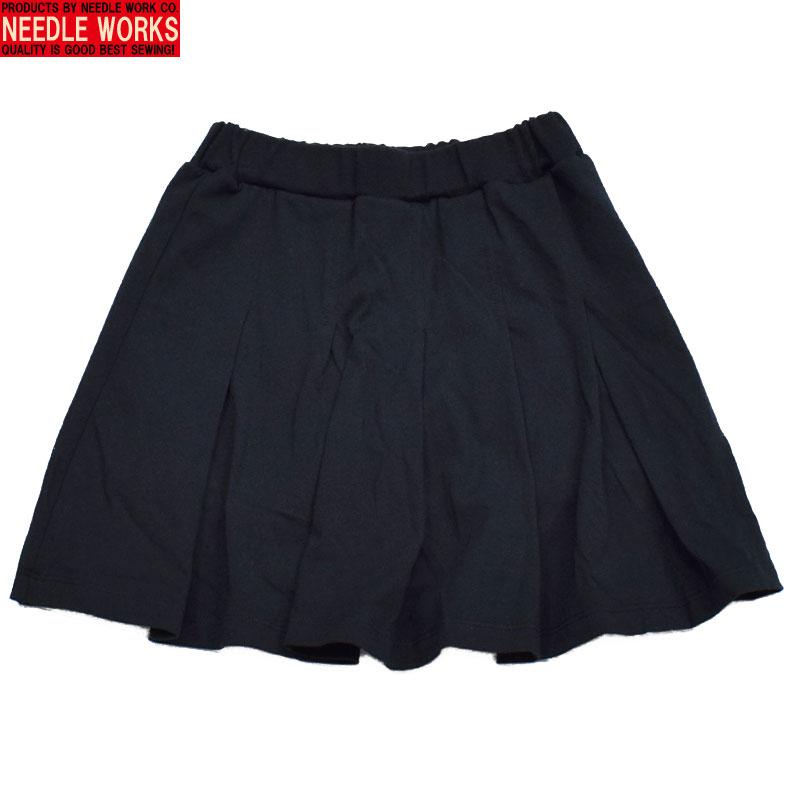 ニードルワークス タックミニ スカートパンツ ブラック