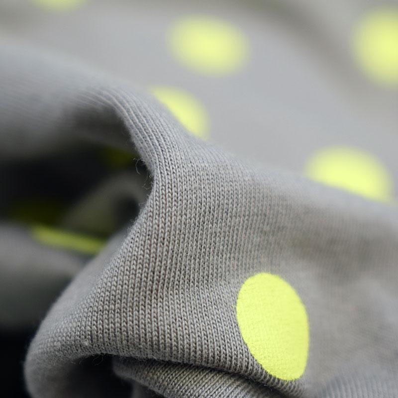 ニードルワークス ドット Tシャツ グレー