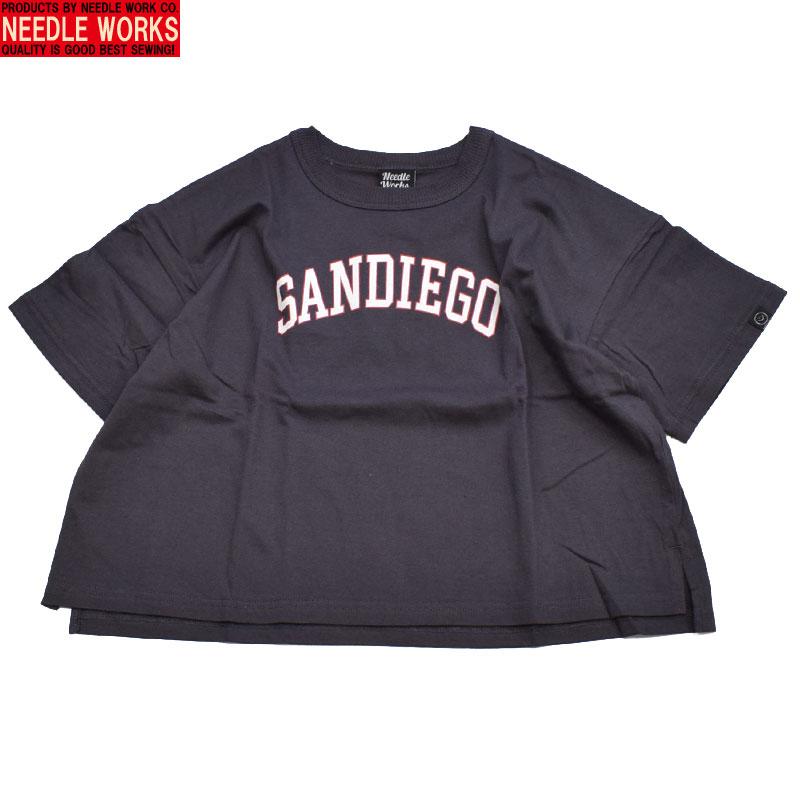 ニードルワークス 42ビッグ Tシャツ チャコール